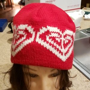 ROXY QUICK SILVER RED  KNITTED BEANIE CAP